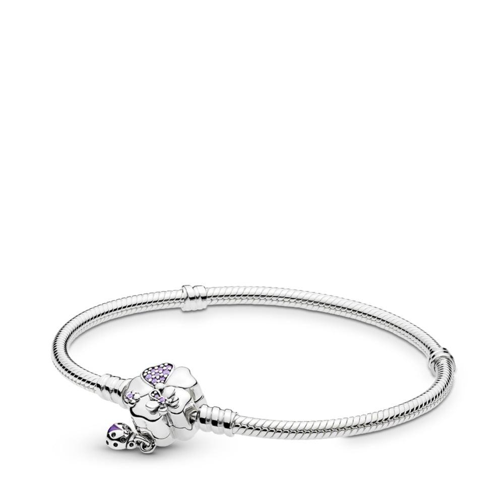 Bracelet Pré de fleurs sauvages en argent sterling avec fermoir