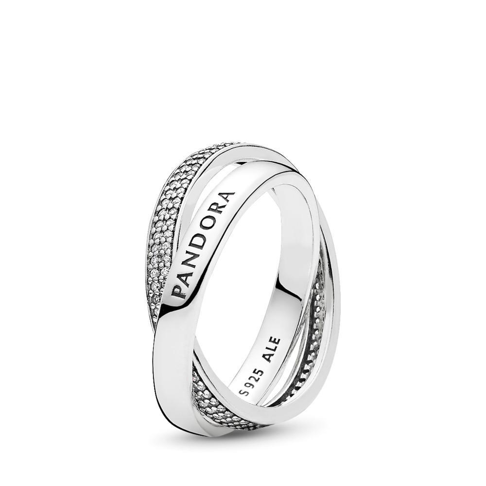 PANDORA Promise, Clear CZ, Sterling silver, Cubic Zirconia - PANDORA - #196547CZ