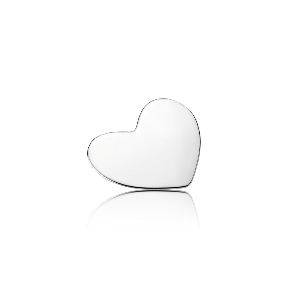 Plaque en cœur, moyenne, Argent sterling, Aucun autre matériel, Aucune couleur, Aucune pierre - PANDORA - #792120