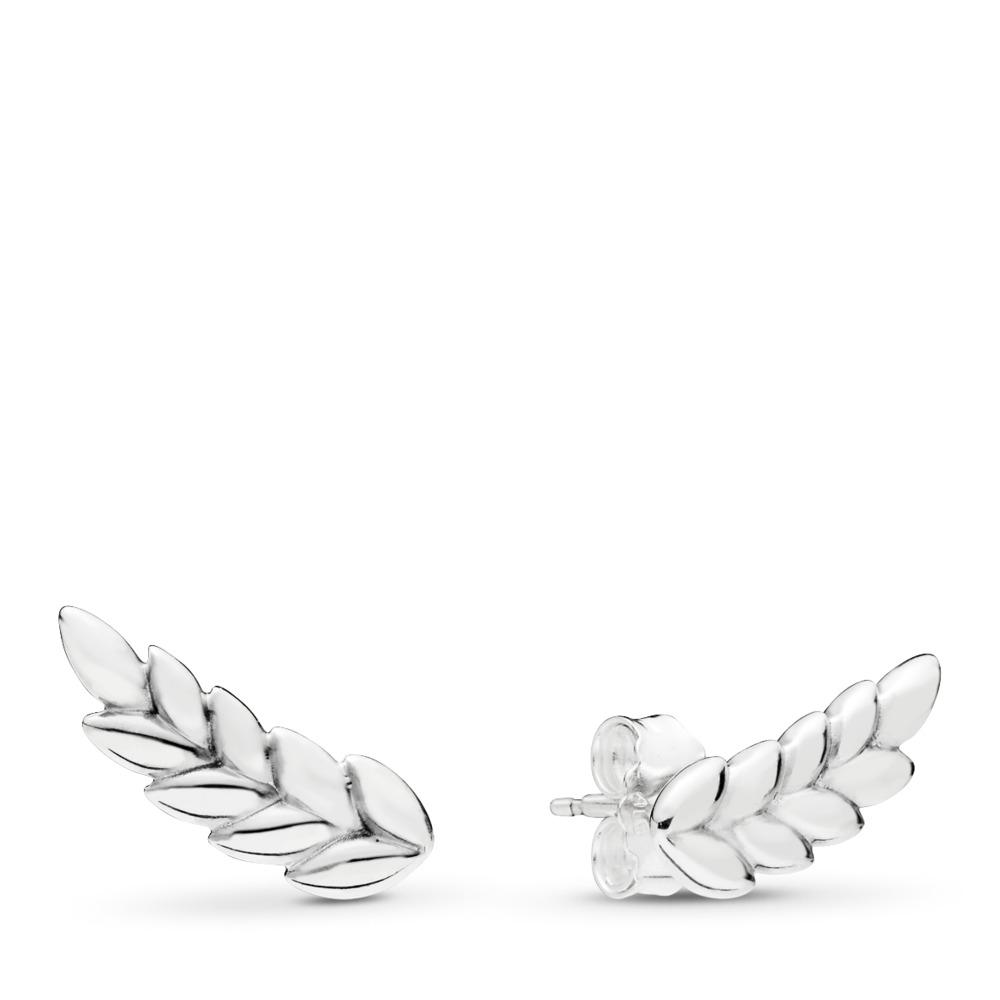 Curved Grains Earrings, Sterling silver - PANDORA - #297730