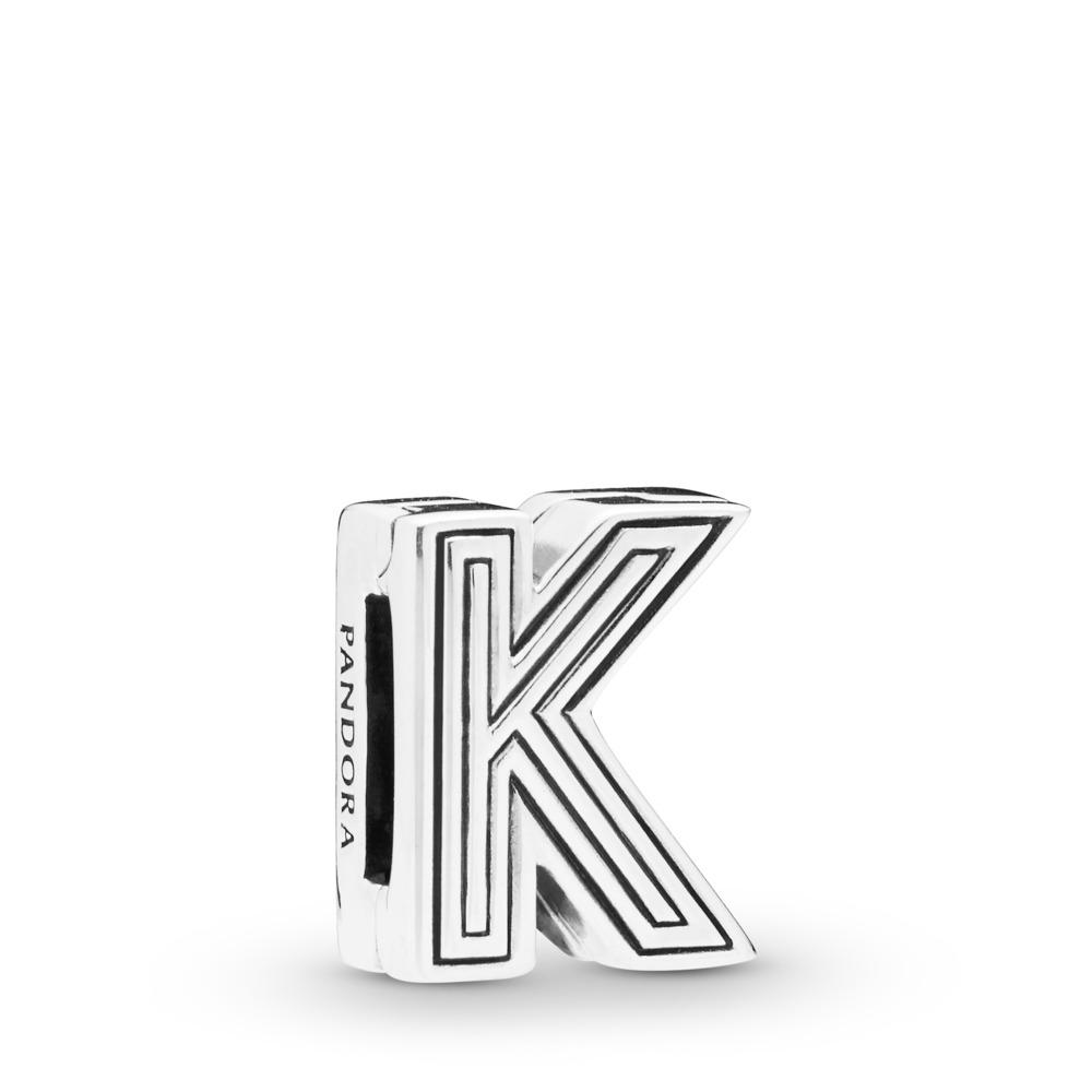 Pandora Reflexions™ Letter K Charm, Sterling silver, Silicone - PANDORA - #798207