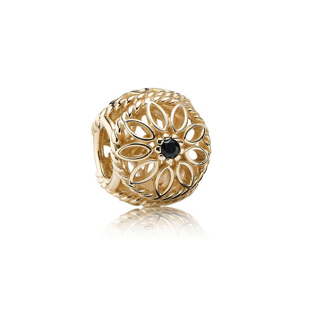 Delicate Beauty, Black Spinel & 14K Gold