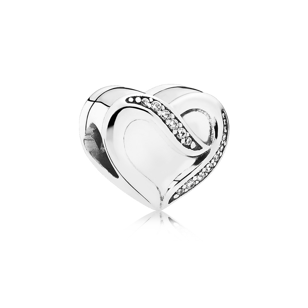 Dreams of Love Charm, Clear CZ