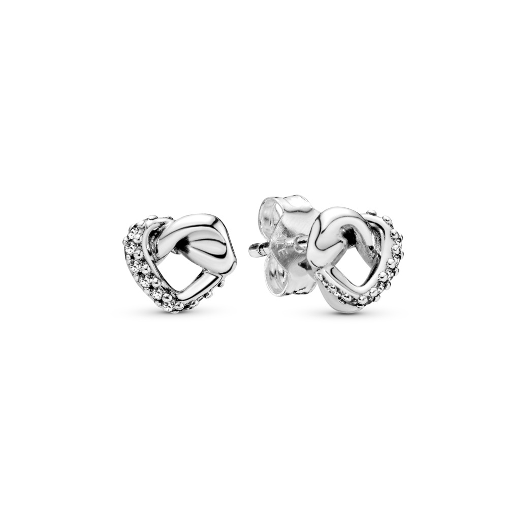a740eb357c1 Knotted Hearts Stud Earrings