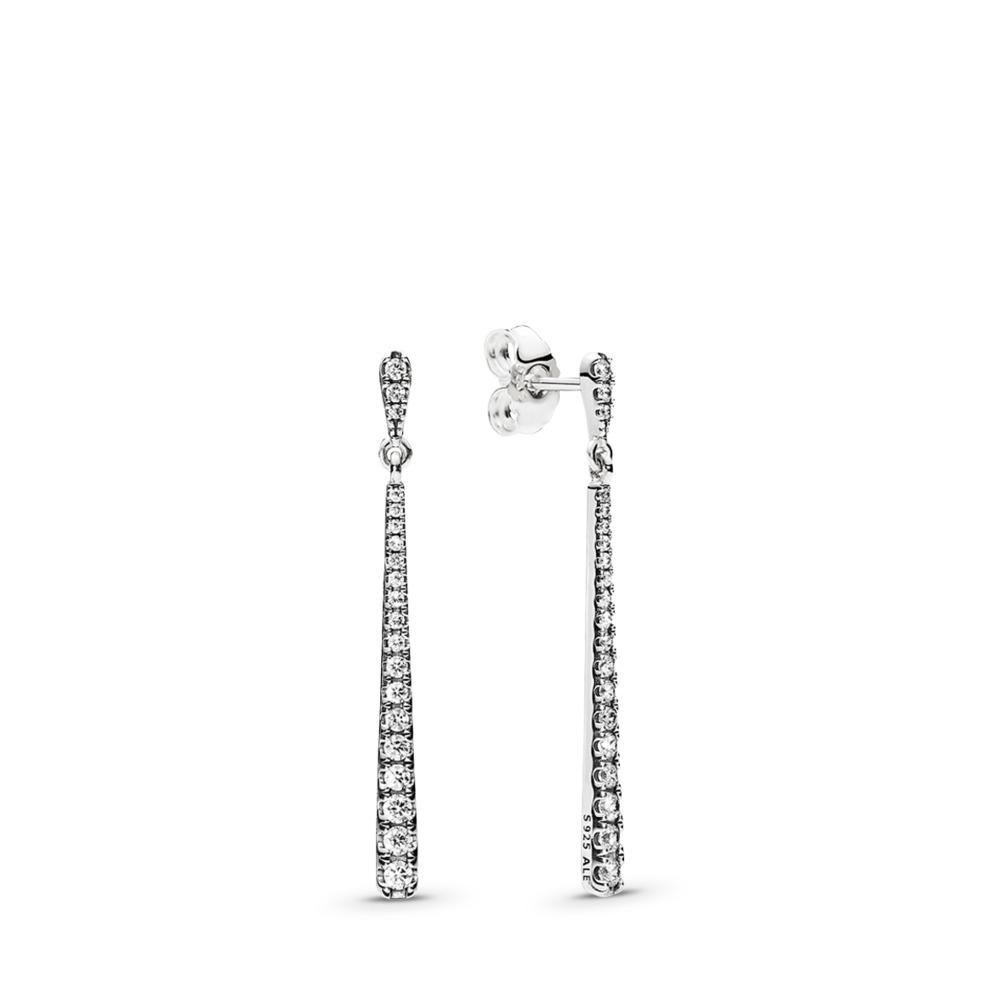 Shooting Stars Dangle Earrings, Clear CZ, Sterling silver, Cubic Zirconia - PANDORA - #296351CZ