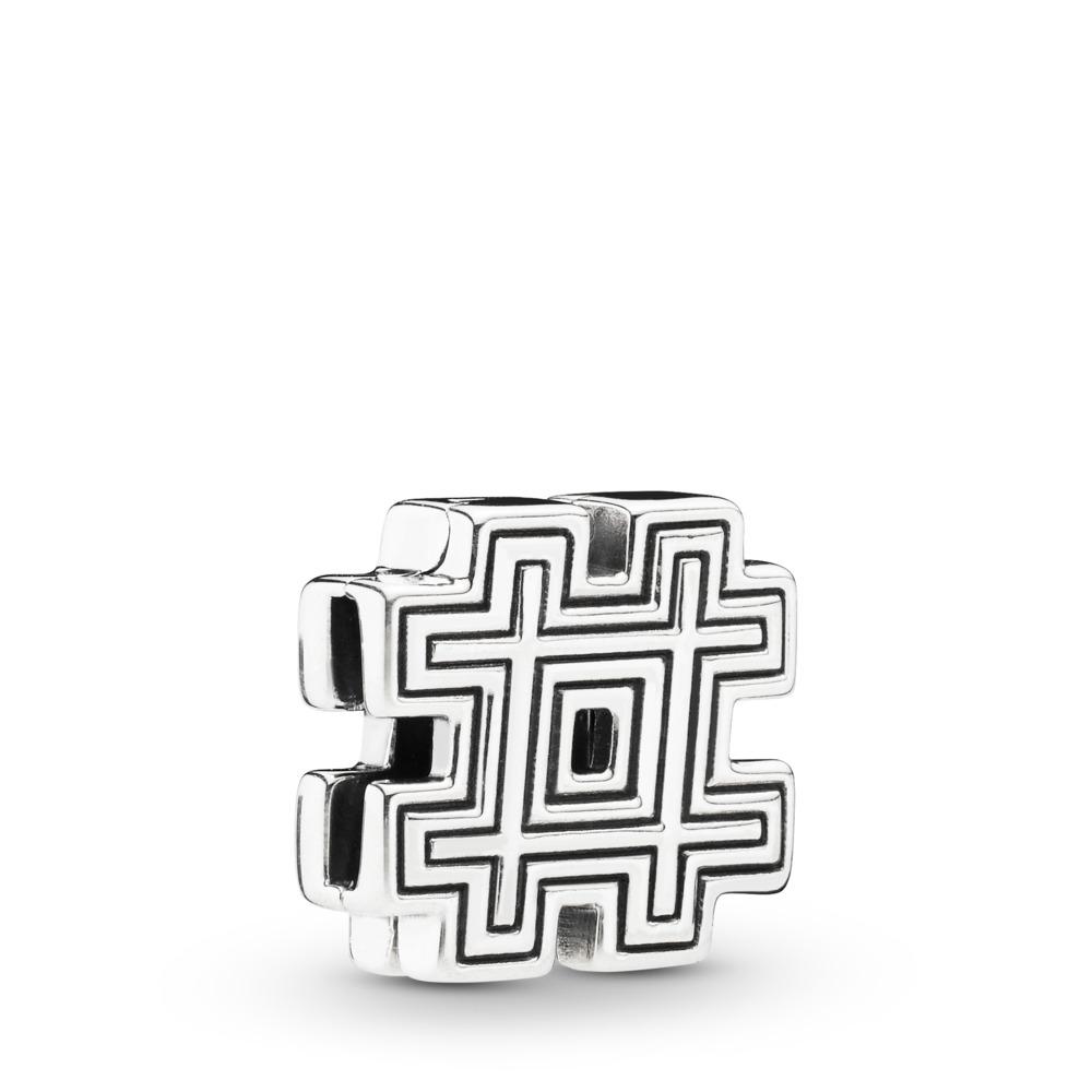 Charm Dièse Pandora Reflexions, Argent sterling, Silicone, Aucune couleur, Aucune pierre - PANDORA - #798193