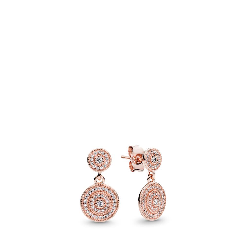 Radiant Elegance, PANDORA Rose™ & Clear CZ, PANDORA Rose, Cubic Zirconia - PANDORA - #280688CZ