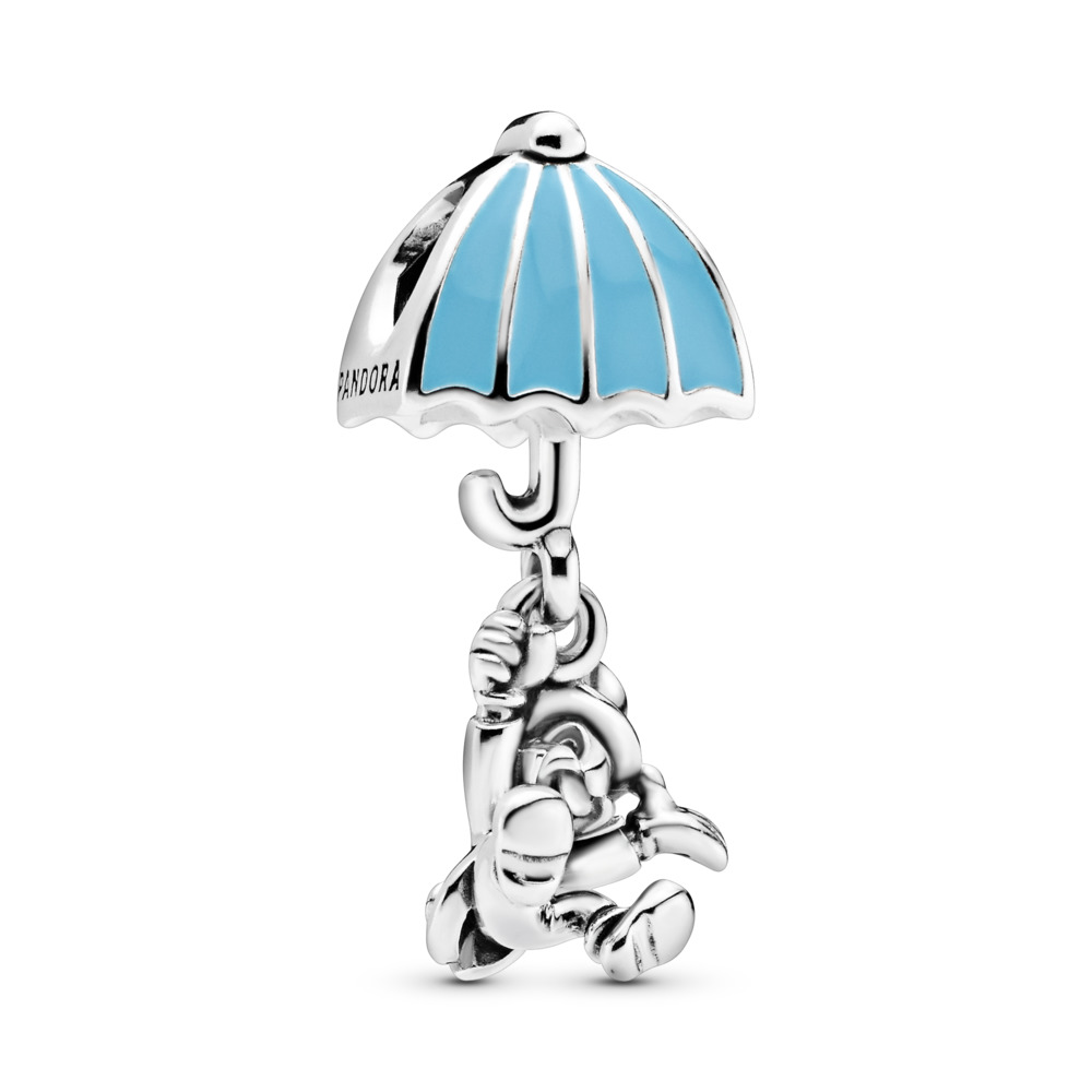 Charm pendentif Disney, Jiminy Cricket, émail bleu, Argent sterling, émail, Bleu, Aucune pierre - PANDORA - #797492EN41