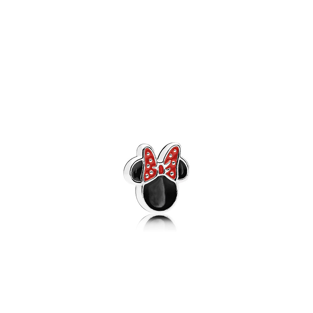 Disney, Minnie Icon Petite Charm, Red & Black Enamel
