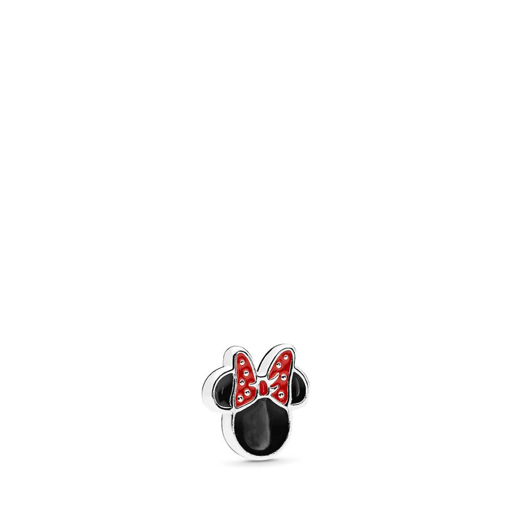 Mini Disney, Légende de Minnie, émail rouge et noir, Argent sterling, émail, Aucune pierre - PANDORA - #796520ENMX