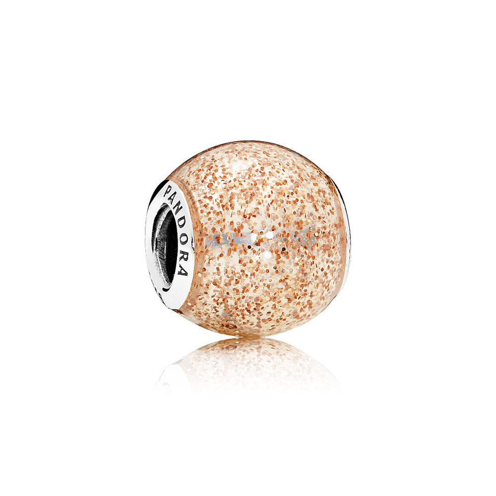 Glitter Ball, Rose Golden Glitter Enamel