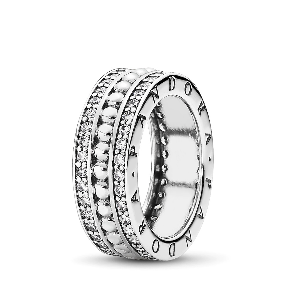Forever PANDORA, Clear CZ, Sterling silver, Cubic Zirconia - PANDORA - #190962CZ