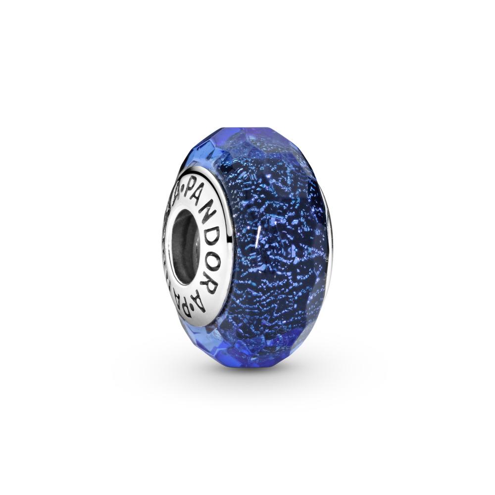 Bleu fascinant iridescent, Argent sterling, Verre, Bleu, Aucune pierre - PANDORA - #791646