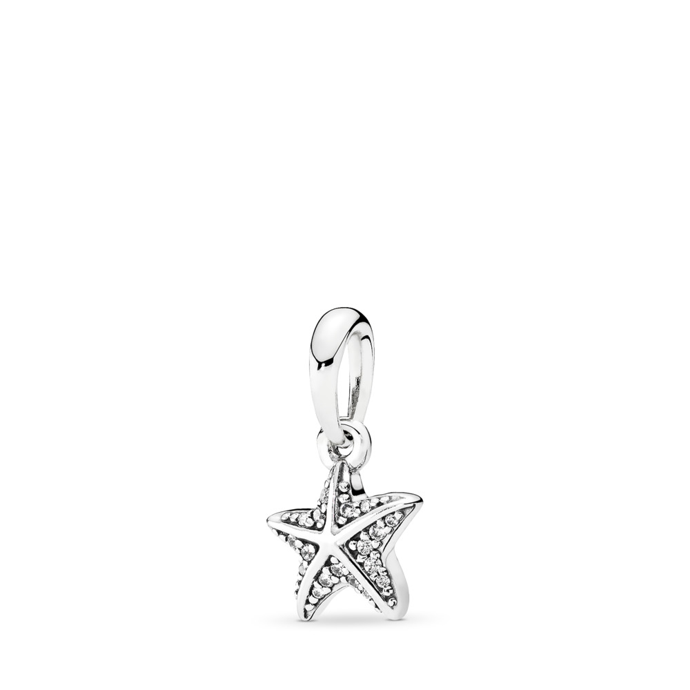 Tropical Starfish, Clear CZ, Sterling silver, Cubic Zirconia - PANDORA - #390403CZ