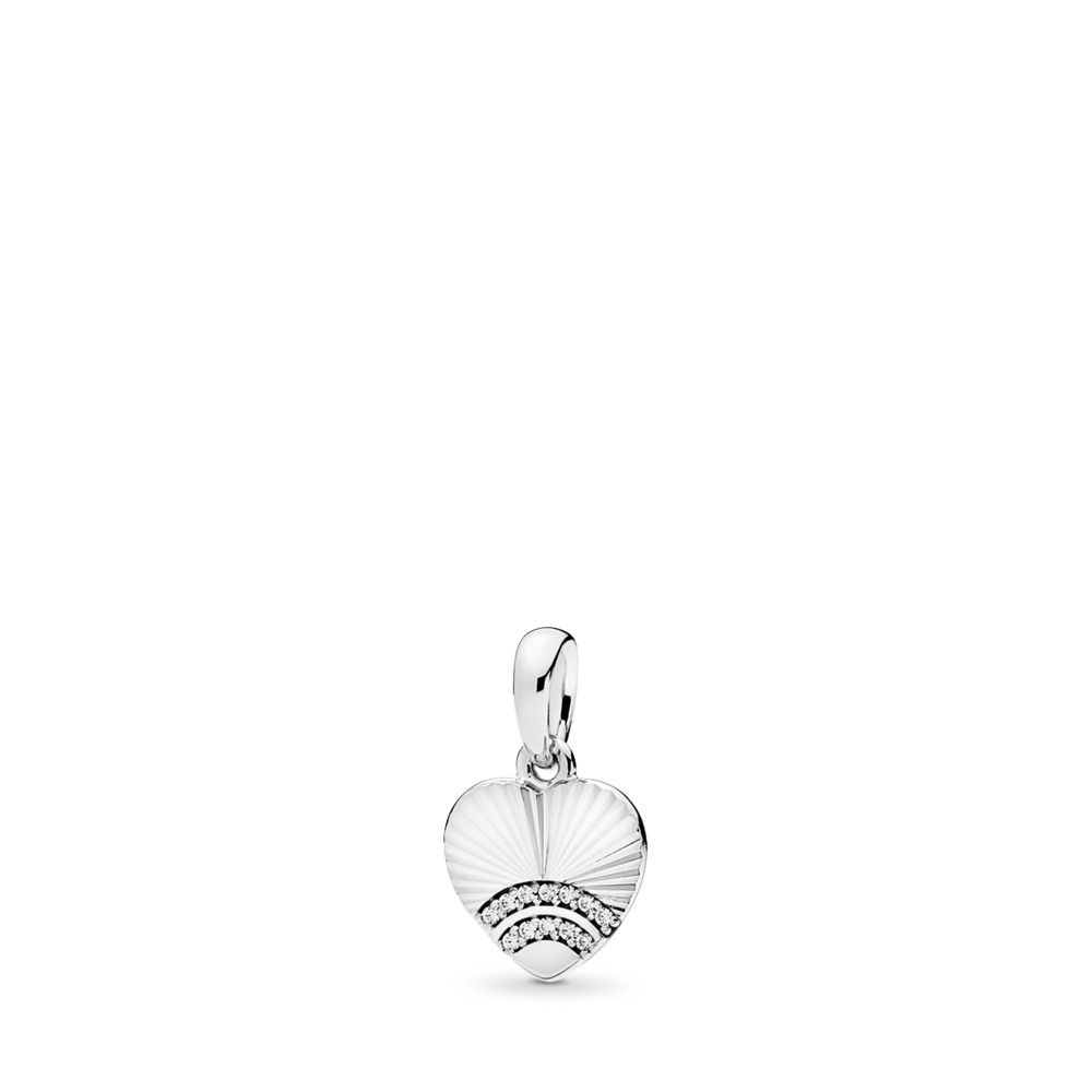 Fan of Love Pendant, Clear CZ, Sterling silver, Cubic Zirconia - PANDORA - #397286CZ