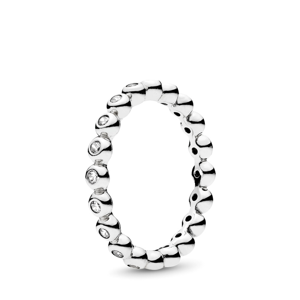 For Eternity, Clear CZ, Sterling silver, Cubic Zirconia - PANDORA - #191032CZ