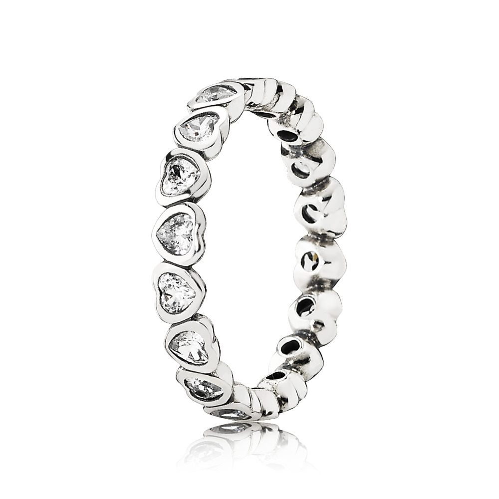 Forever More Stackable Ring, Clear CZ, Sterling silver, Cubic Zirconia - PANDORA - #190897CZ