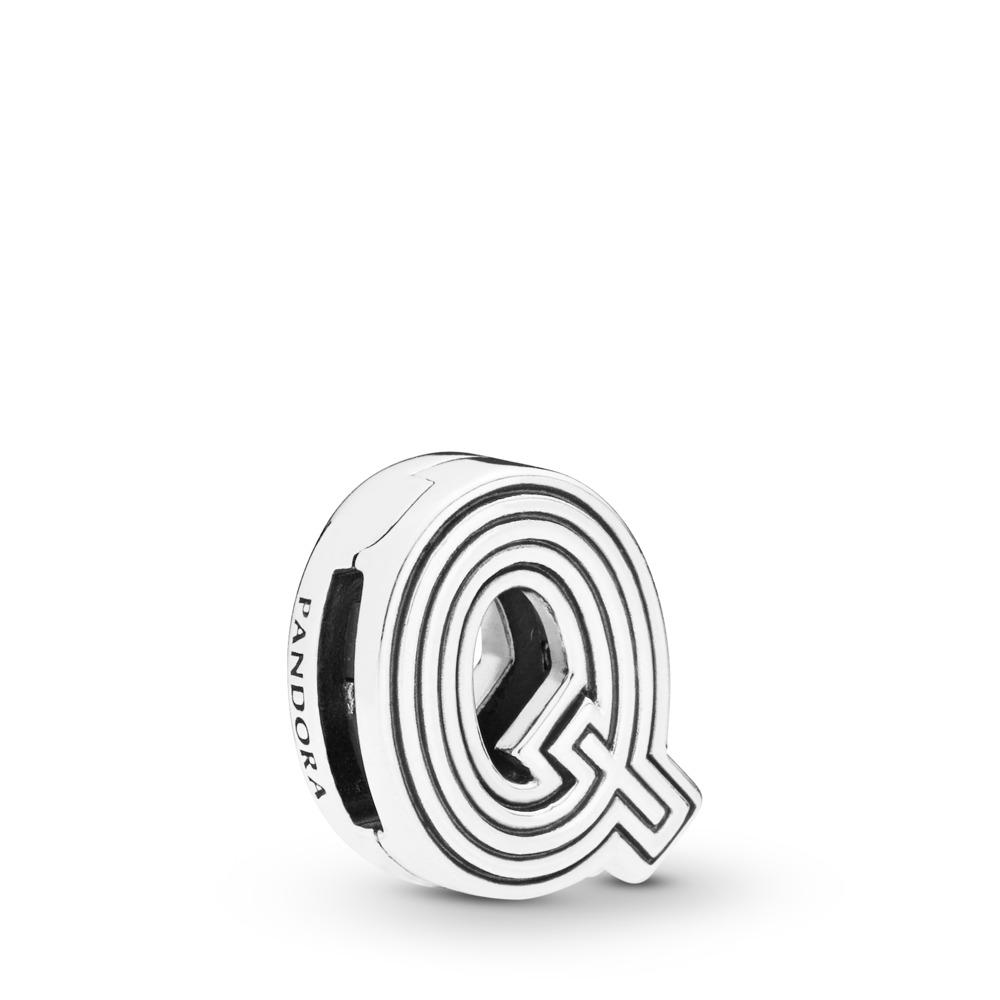 Pandora Reflexions™ Letter Q Charm, Sterling silver, Silicone - PANDORA - #798213