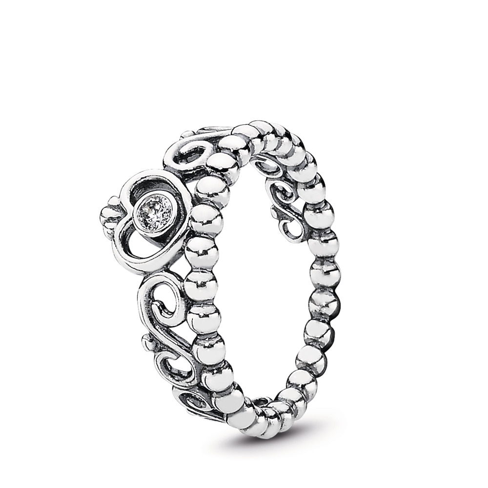 My Princess Tiara Ring, Clear CZ, Sterling silver, Cubic Zirconia - PANDORA - #190880CZ