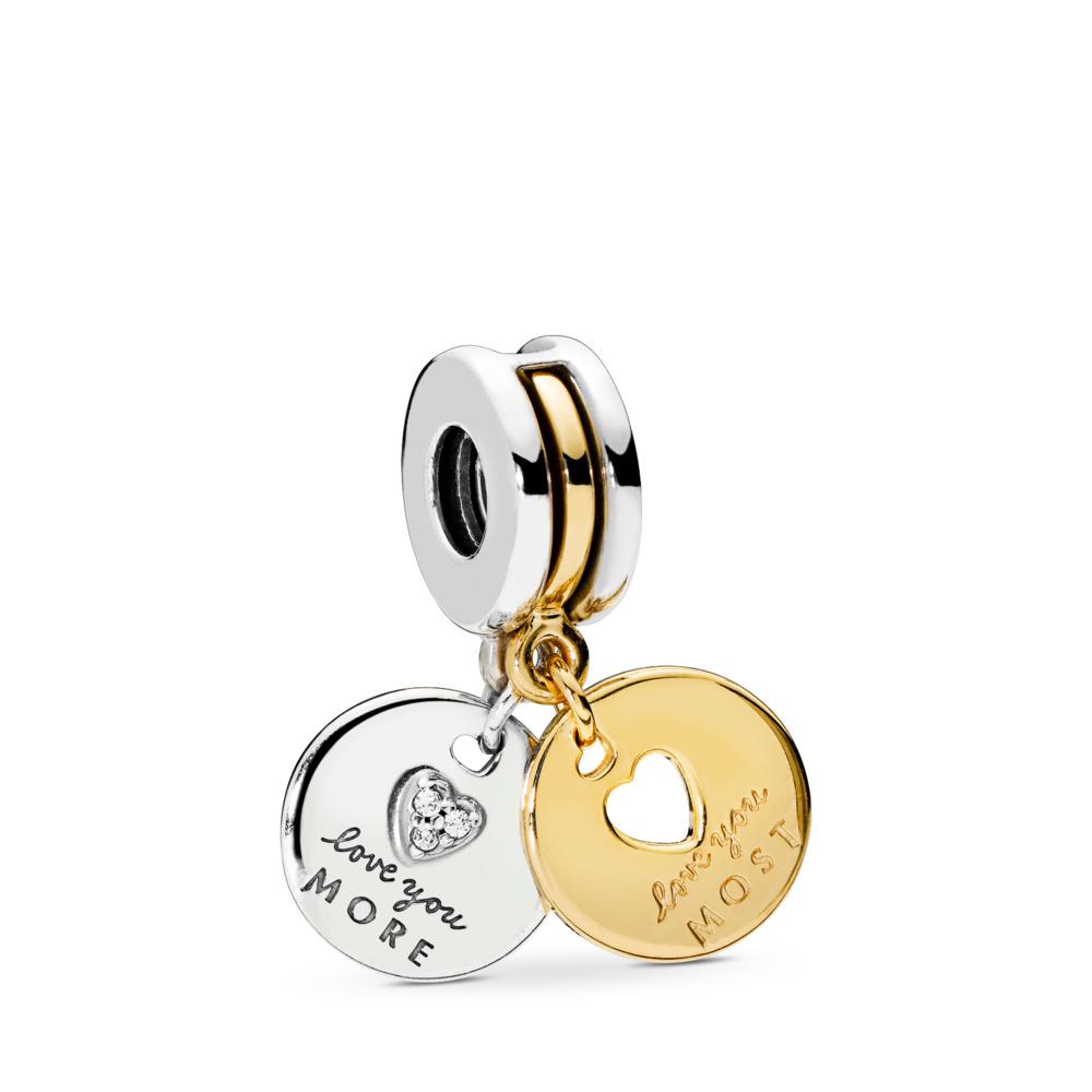 Charm pendentif L'amour en abondance, cz incolore, PANDORA Shine and sterling silver, Aucun autre matériel, Aucune couleur, Zircon cubique - PANDORA - #767243CZ