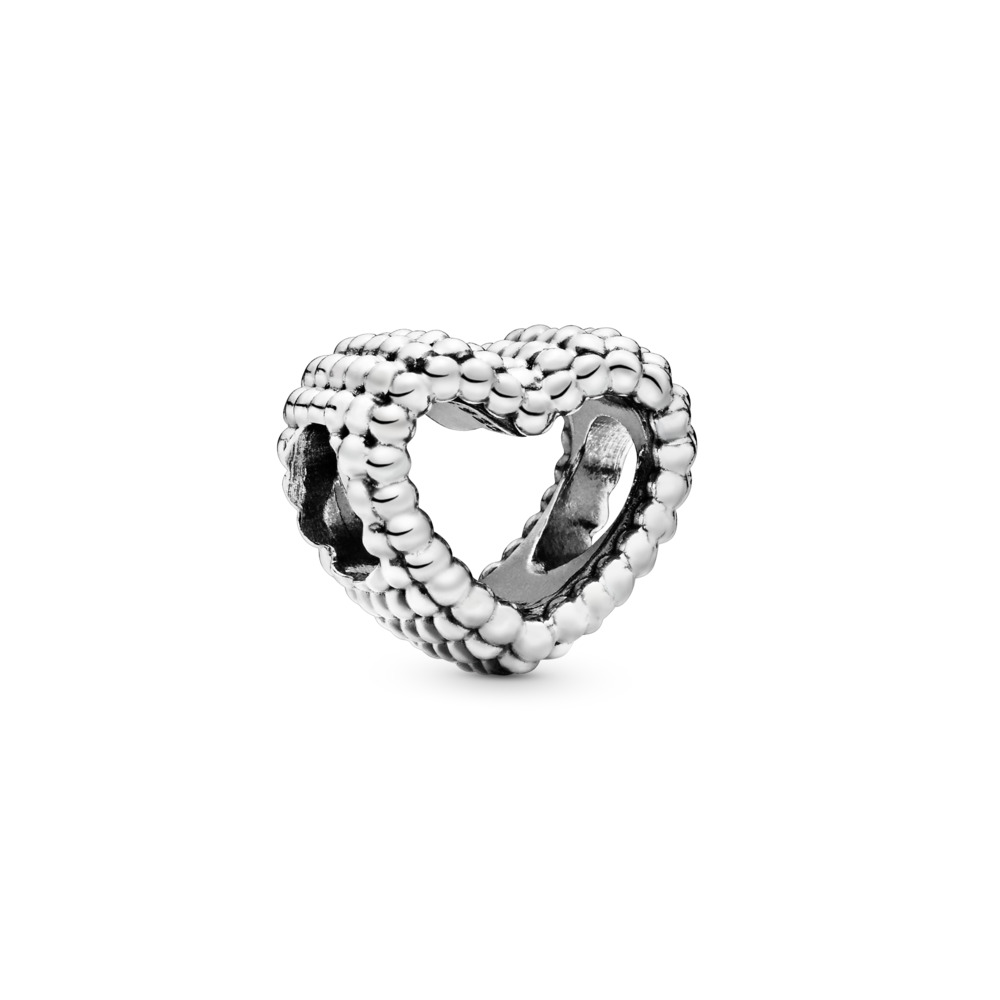 Charm Cœur à billes, Argent sterling, Aucun autre matériel, Aucune couleur, Aucune pierre - PANDORA - #797516