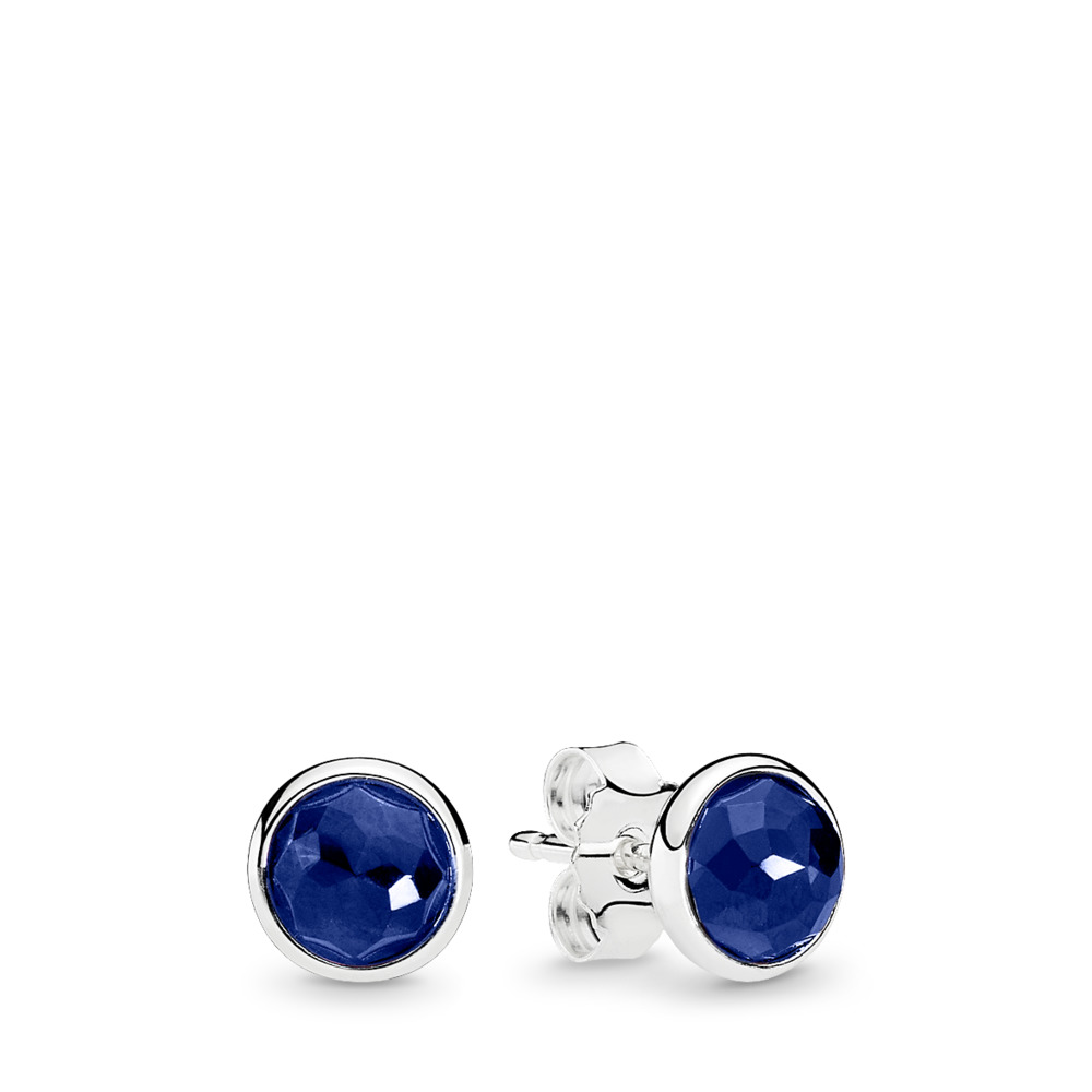 September Droplets, Synthetic Sapphire, Sterling silver, Blue, Synthetic sapphire - PANDORA - #290738SSA