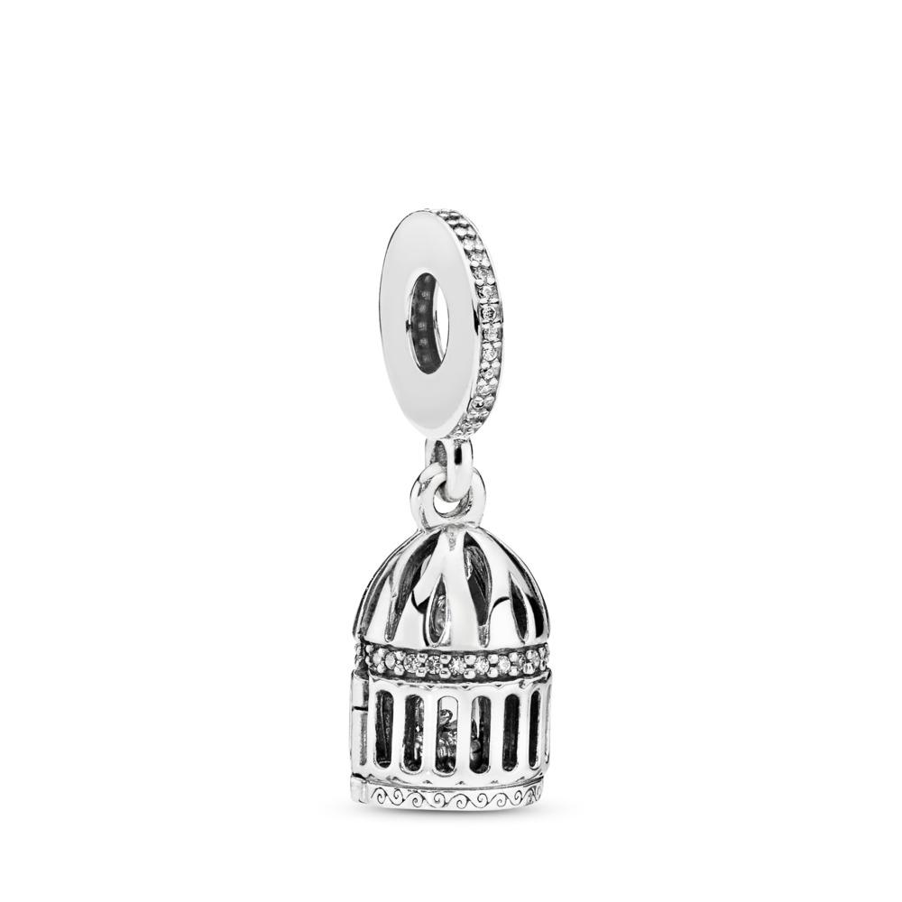 Charm pendentif Libre comme l'oiseau, cz incolore, Argent sterling, Aucun autre matériel, Aucune couleur, Zircon cubique - PANDORA - #797575CZ