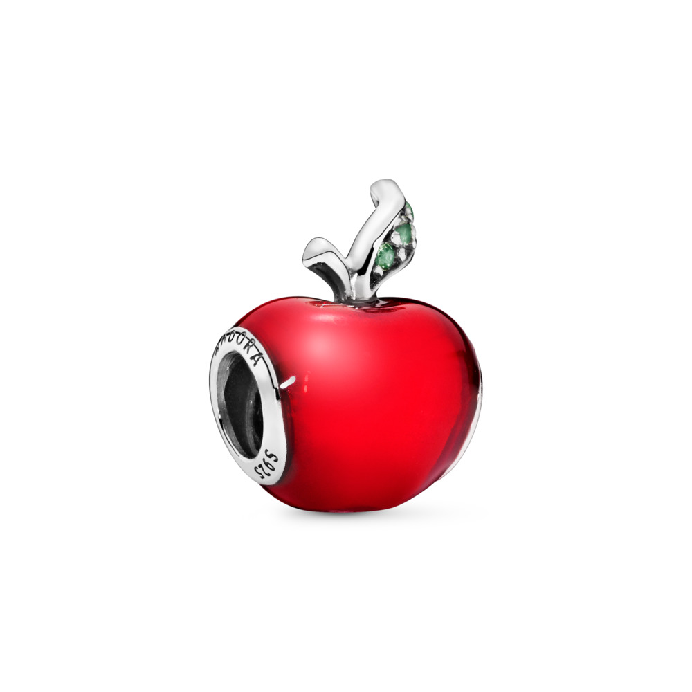 Disney, Snow White's Apple, Sterling silver, Enamel, Green, Cubic Zirconia - PANDORA - #791572EN73