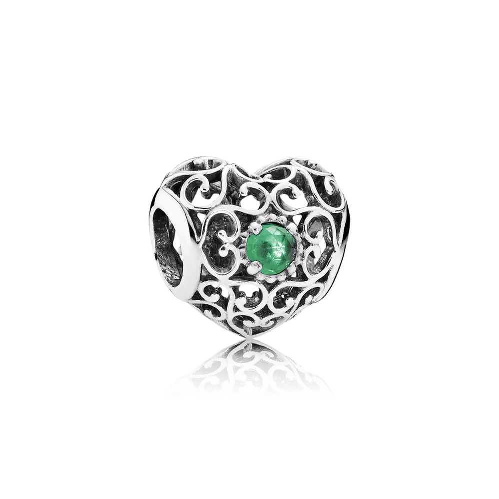 May Signature Heart, Royal Green Crystal