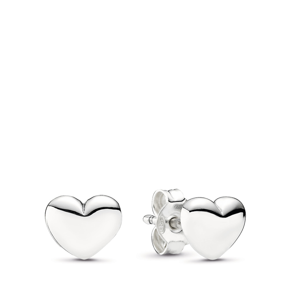Hearts Stud Earrings, Sterling silver - PANDORA - #290550