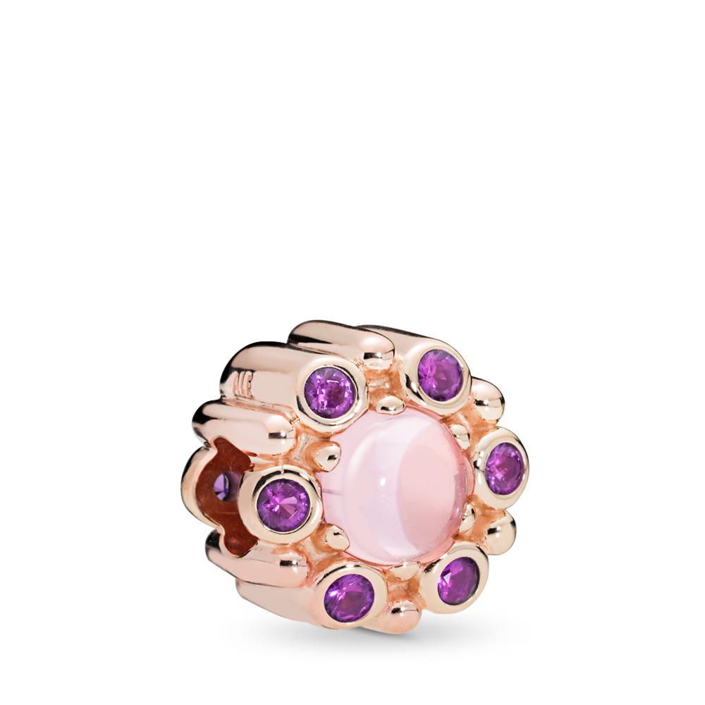 Charm Radiance héraldique, PANDORA Rose et cristaux roses et mauves, PANDORA ROSE, Aucun autre matériel, Rose, Cristal - PANDORA - #787658NPM