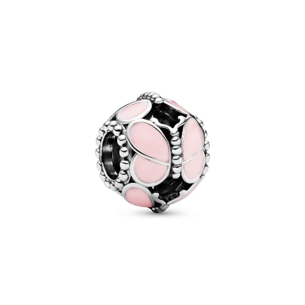 Charm Papillons roses, Argent sterling, émail, Aucune couleur, Aucune pierre - PANDORA - #797855EN160