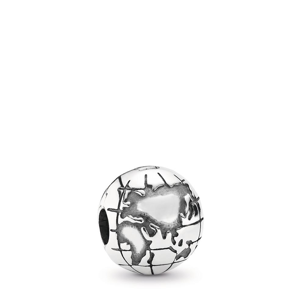 Globe, Argent sterling, Aucun autre matériel, Aucune couleur, Aucune pierre - PANDORA - #791182