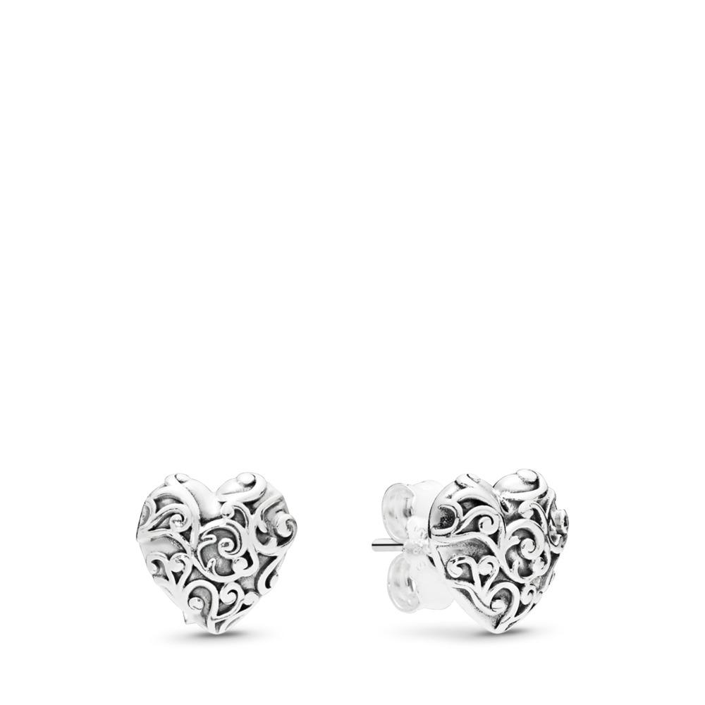 Boucles d'oreilles Cœurs royaux, Argent sterling, Aucun autre matériel, Aucune couleur, Aucune pierre - PANDORA - #297693