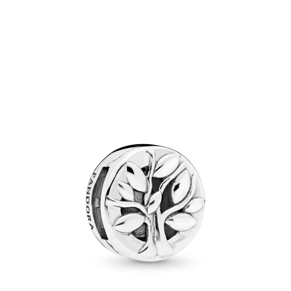 Charm Arbre de vie PANDORA Reflexions, Argent sterling, Silicone, Aucune couleur, Aucune pierre - PANDORA - #797779