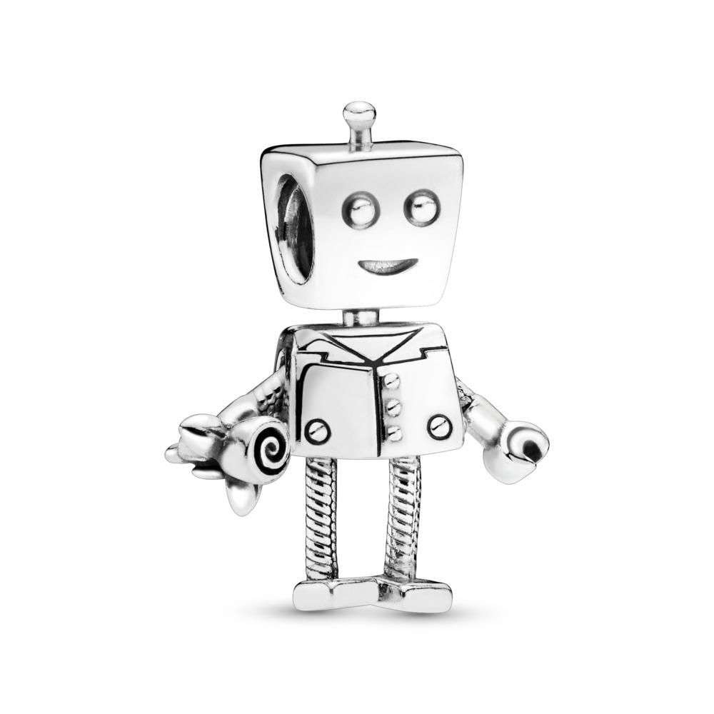 Charm Robert le robot, Argent sterling, Aucun autre matériel, Aucune couleur, Aucune pierre - PANDORA - #797819