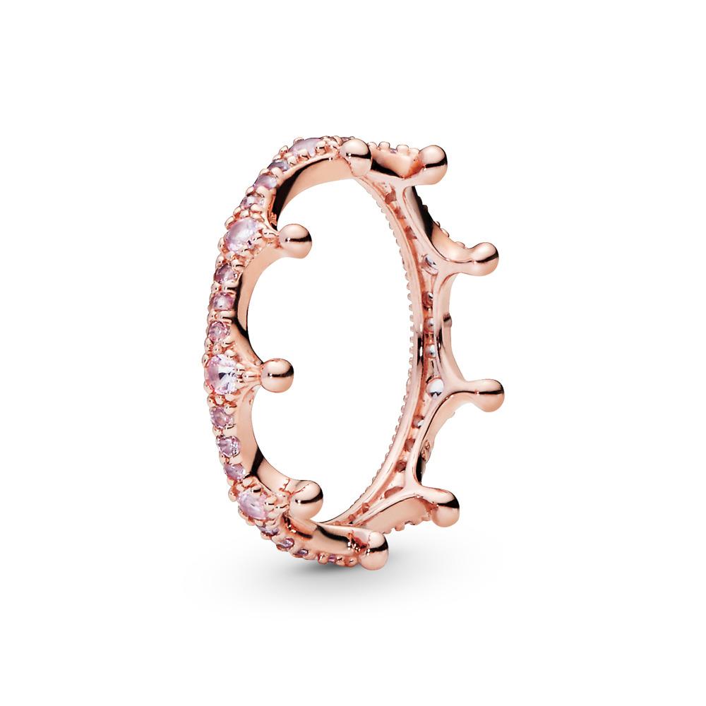 Couronne enchantée rose, PANDORARoseMC, PANDORA ROSE, Aucun autre matériel, Rose, Cristal - PANDORA - #187087NPO