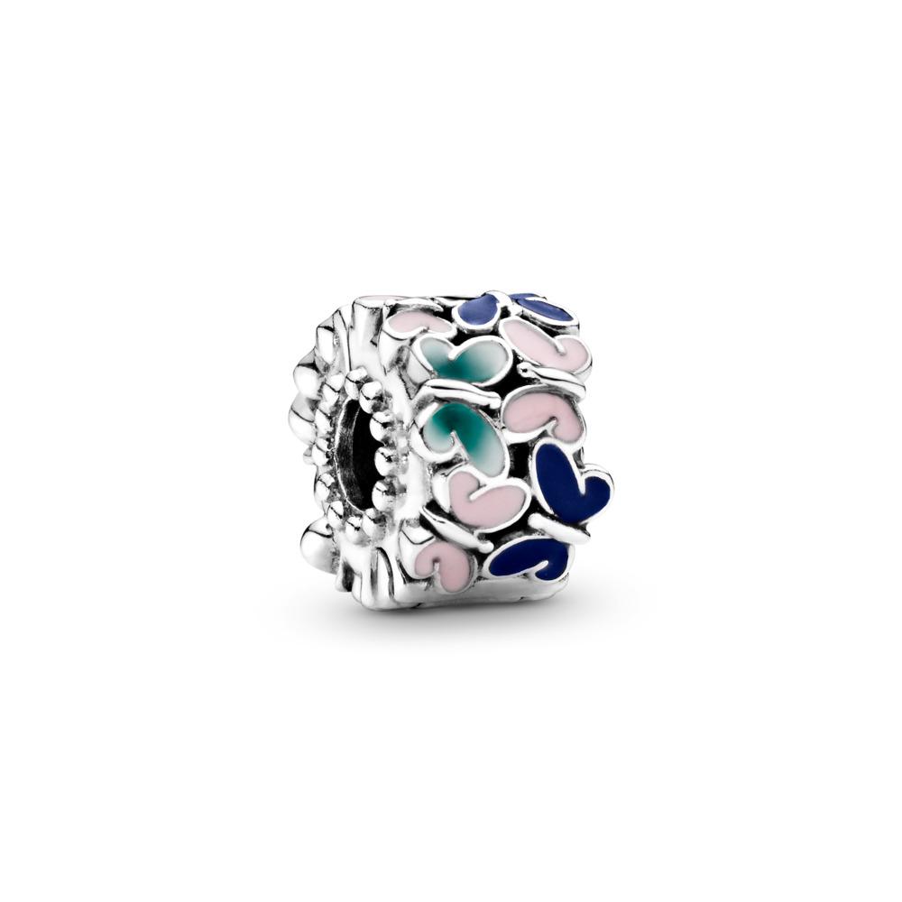 Clip Arrangement de papillons, Argent sterling, émail, Bleu, Aucune pierre - PANDORA - #797863ENMX
