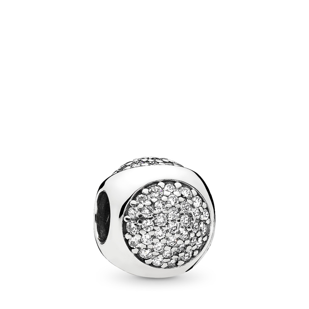 Dazzling Droplet, Clear CZ, Sterling silver, Cubic Zirconia - PANDORA - #796214CZ