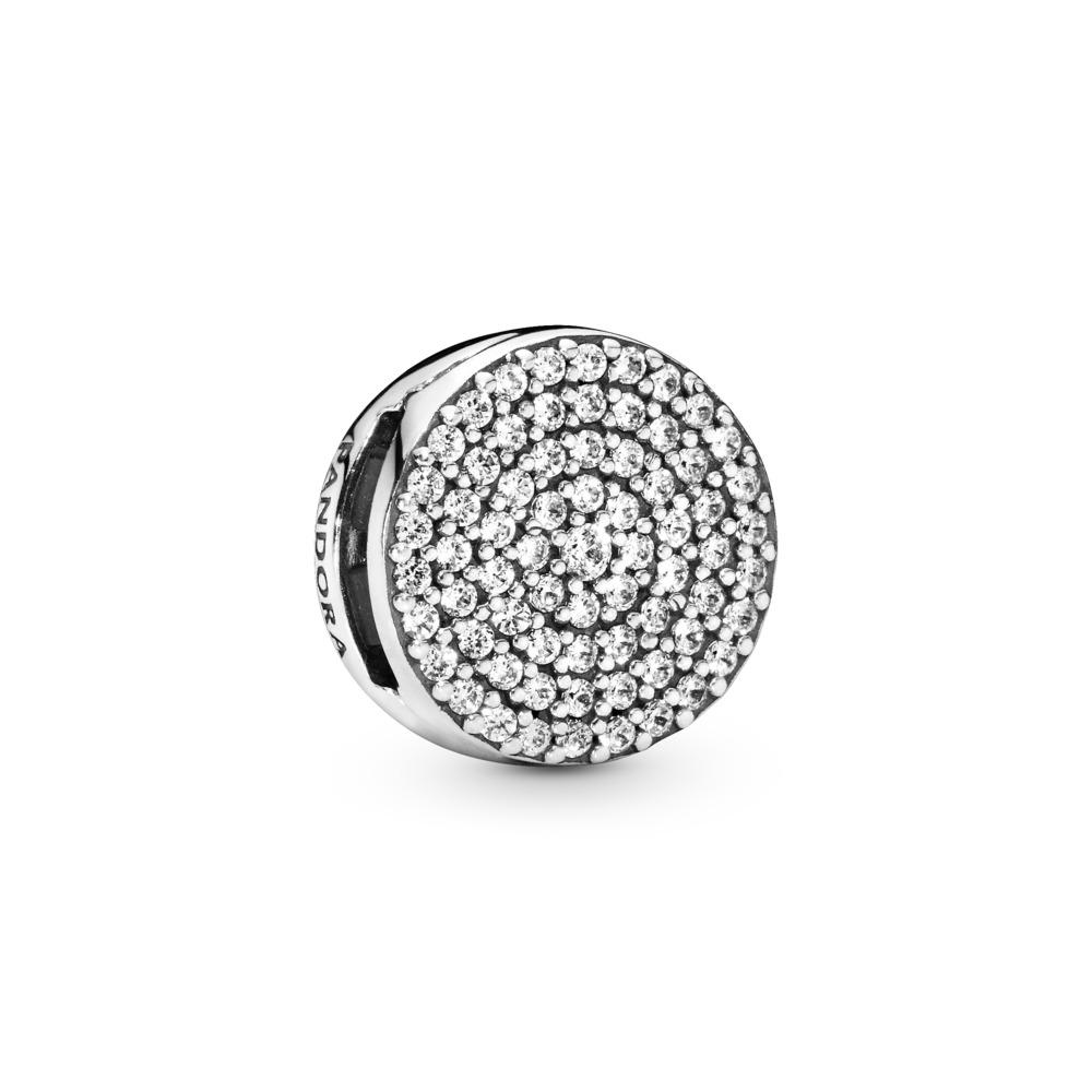 PANDORA Reflexions™ Dazzling Elegance Charm, Clear CZ, Sterling silver, Silicone, Cubic Zirconia - PANDORA - #797583CZ