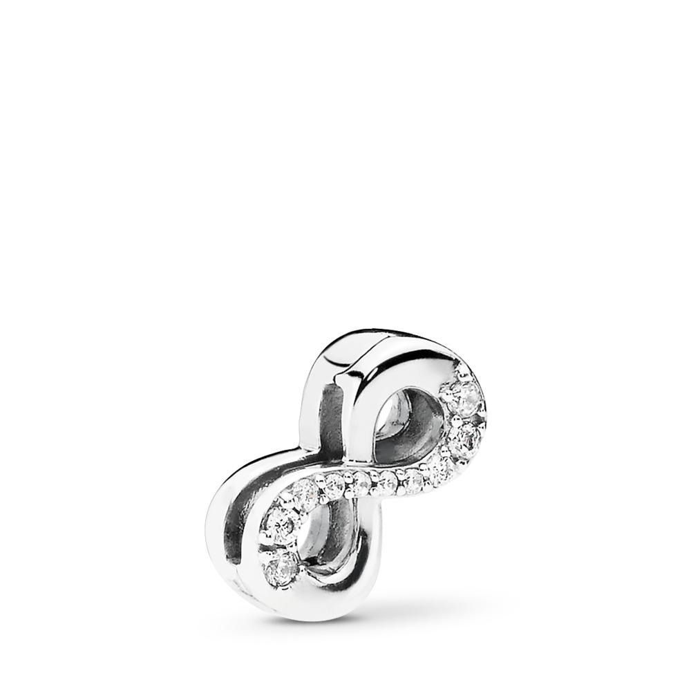 Charm Infinité scintillante PANDORA Reflexions, cz incolore, Argent sterling, Silicone, Aucune couleur, Zircon cubique - PANDORA - #797580CZ