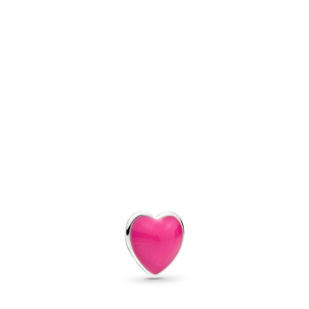Mini cœur, émail magenta, Argent sterling, émail, Aucune couleur, Aucune pierre - PANDORA - #792169EN120