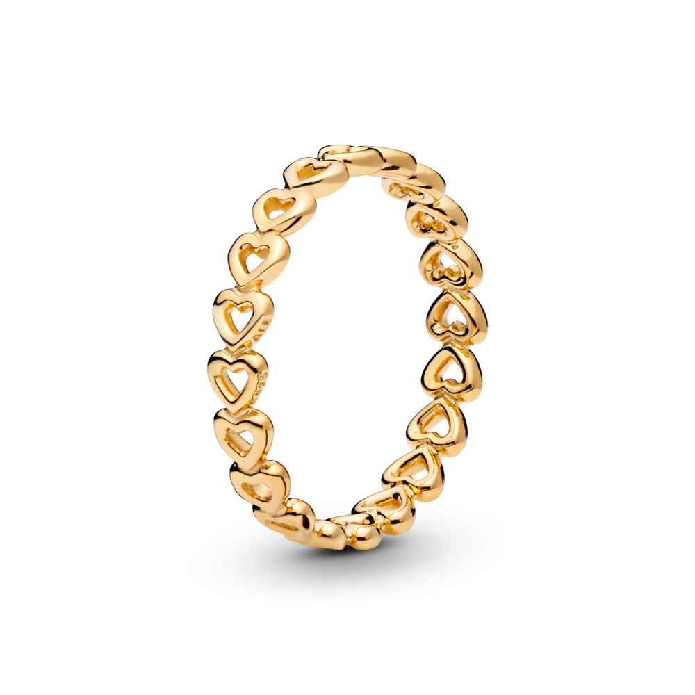 Linked Love Ring, PANDORA Shine™, 18ct gold-plated sterling silver - PANDORA - #167105