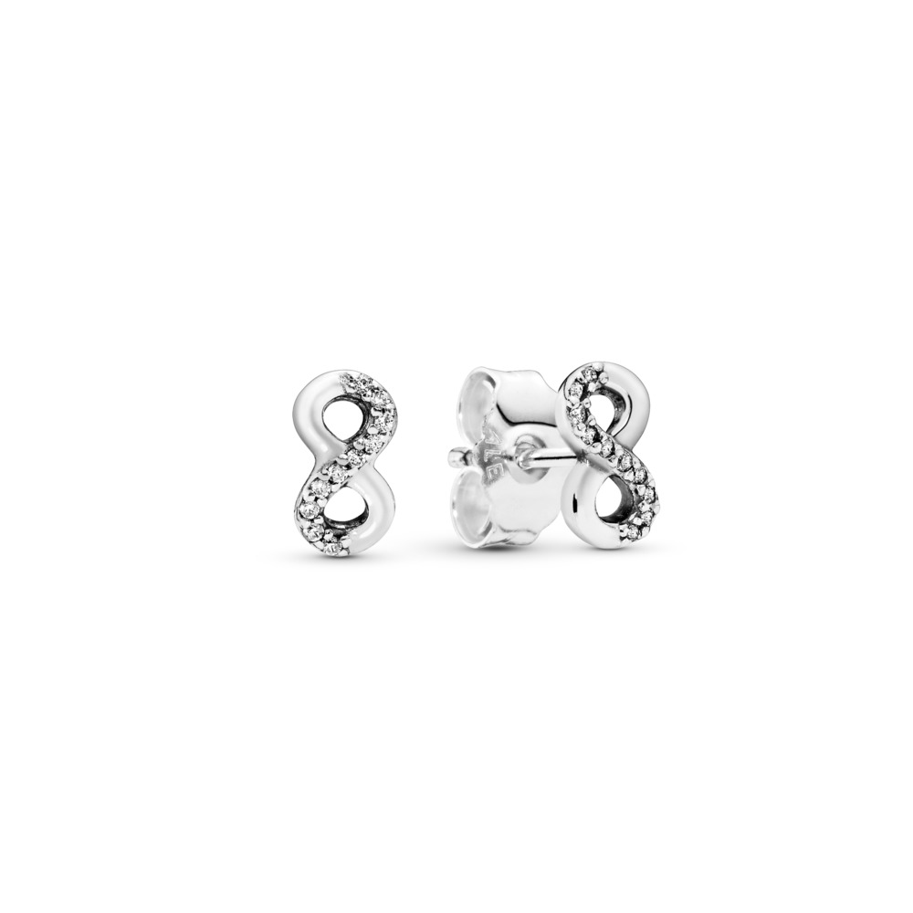 Infinite Love, Clear CZ, Sterling silver, Cubic Zirconia - PANDORA - #290695CZ