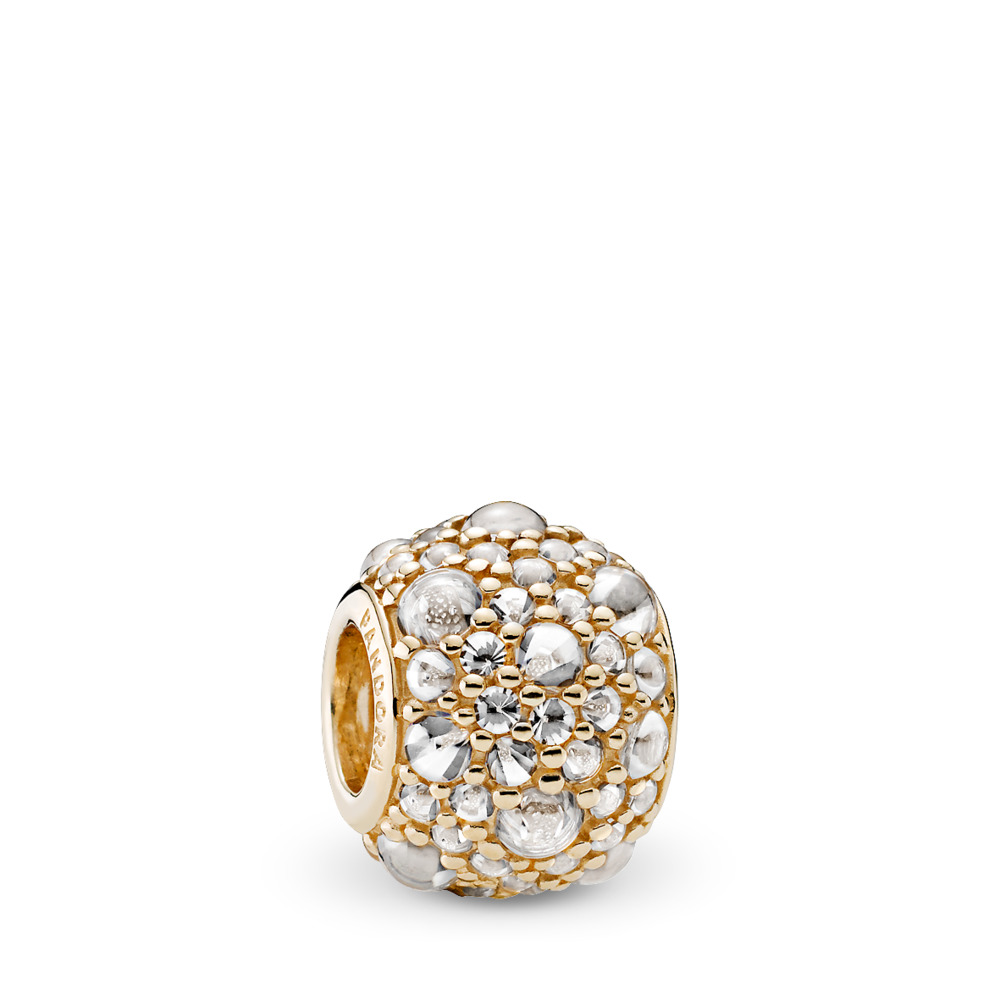 Shimmering Droplets, 14K Gold & Clear CZ, Yellow Gold 14 k, Cubic Zirconia - PANDORA - #751000CZ
