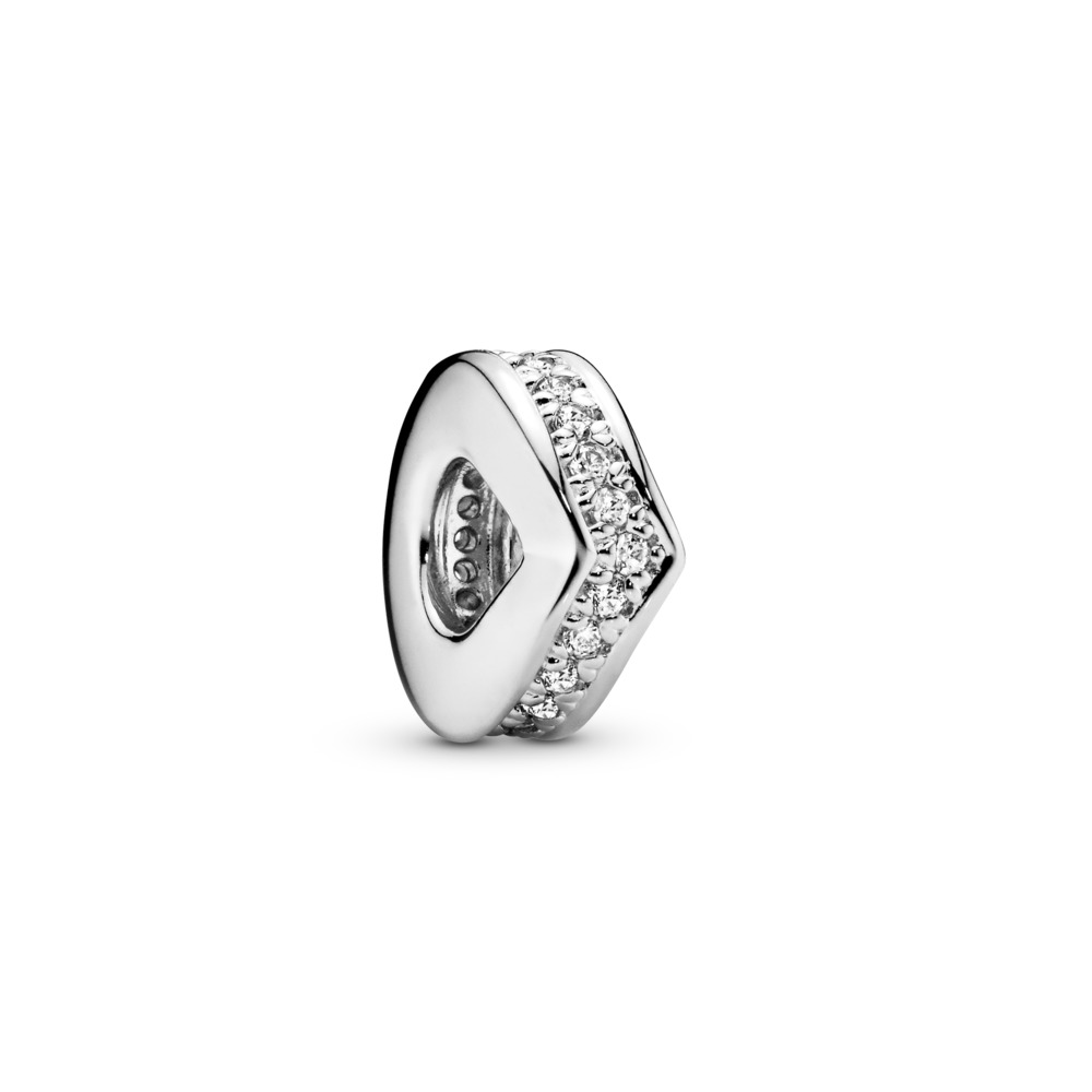Shimmering Wish Spacer, Sterling silver, Cubic Zirconia - PANDORA - #797808CZ