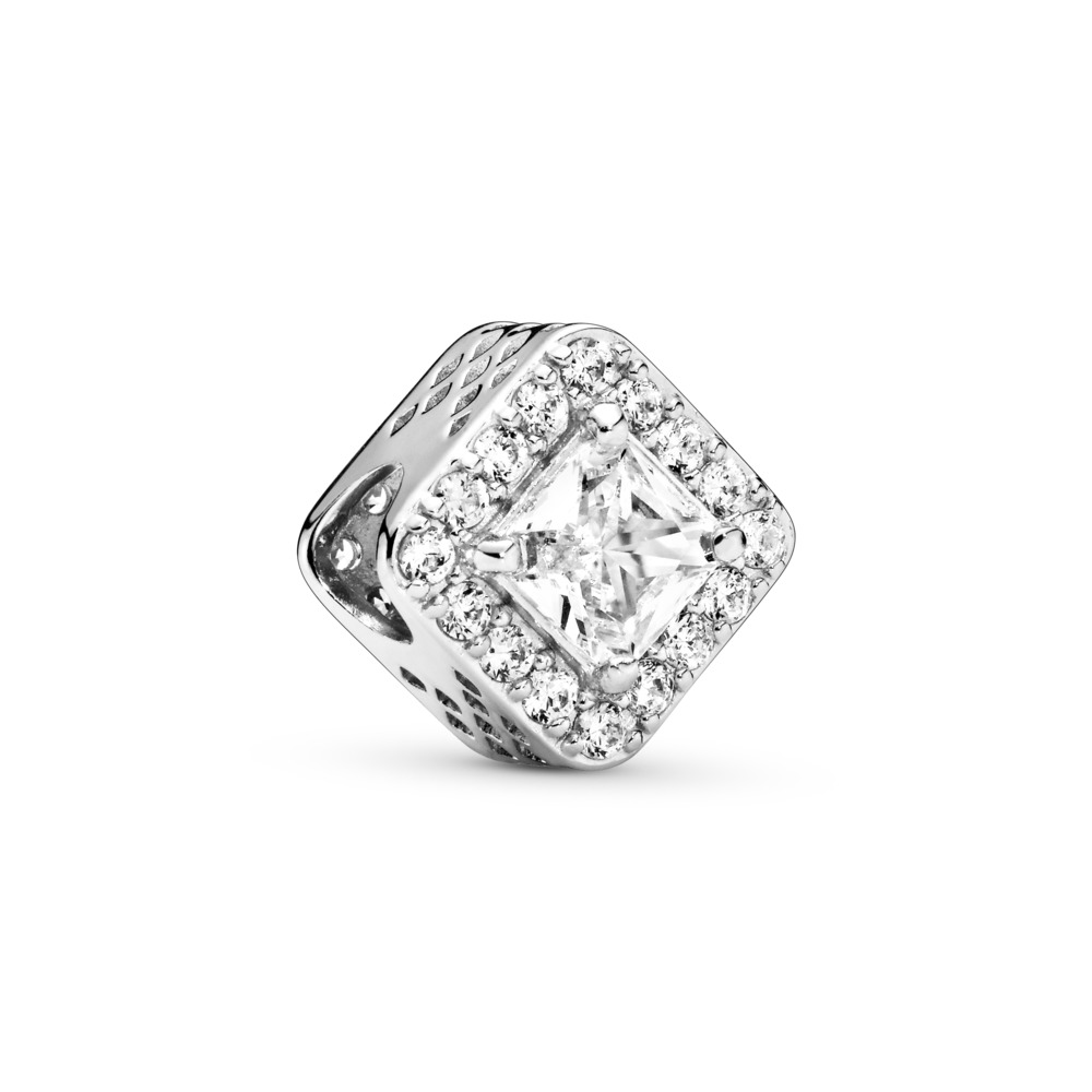 Geometric Radiance, Clear CZ, Sterling silver, Cubic Zirconia - PANDORA - #796206CZ