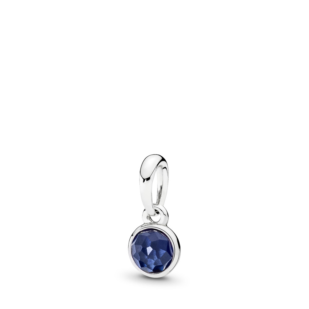 September Droplet, Synthetic Sapphire, Sterling silver, Blue, Synthetic sapphire - PANDORA - #390396SSA