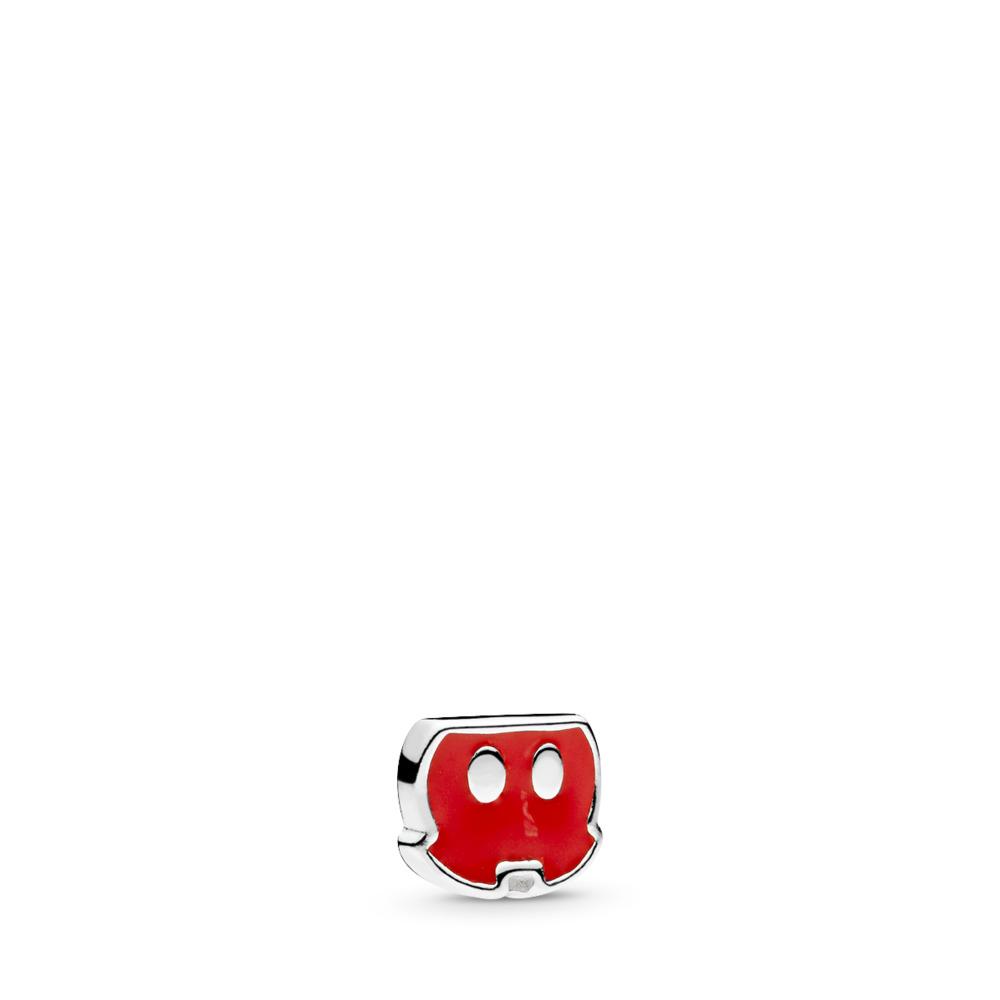 Disney, Mickey Trousers Petite Charm, Red Enamel, Sterling silver, Enamel, Red - PANDORA - #796348EN09