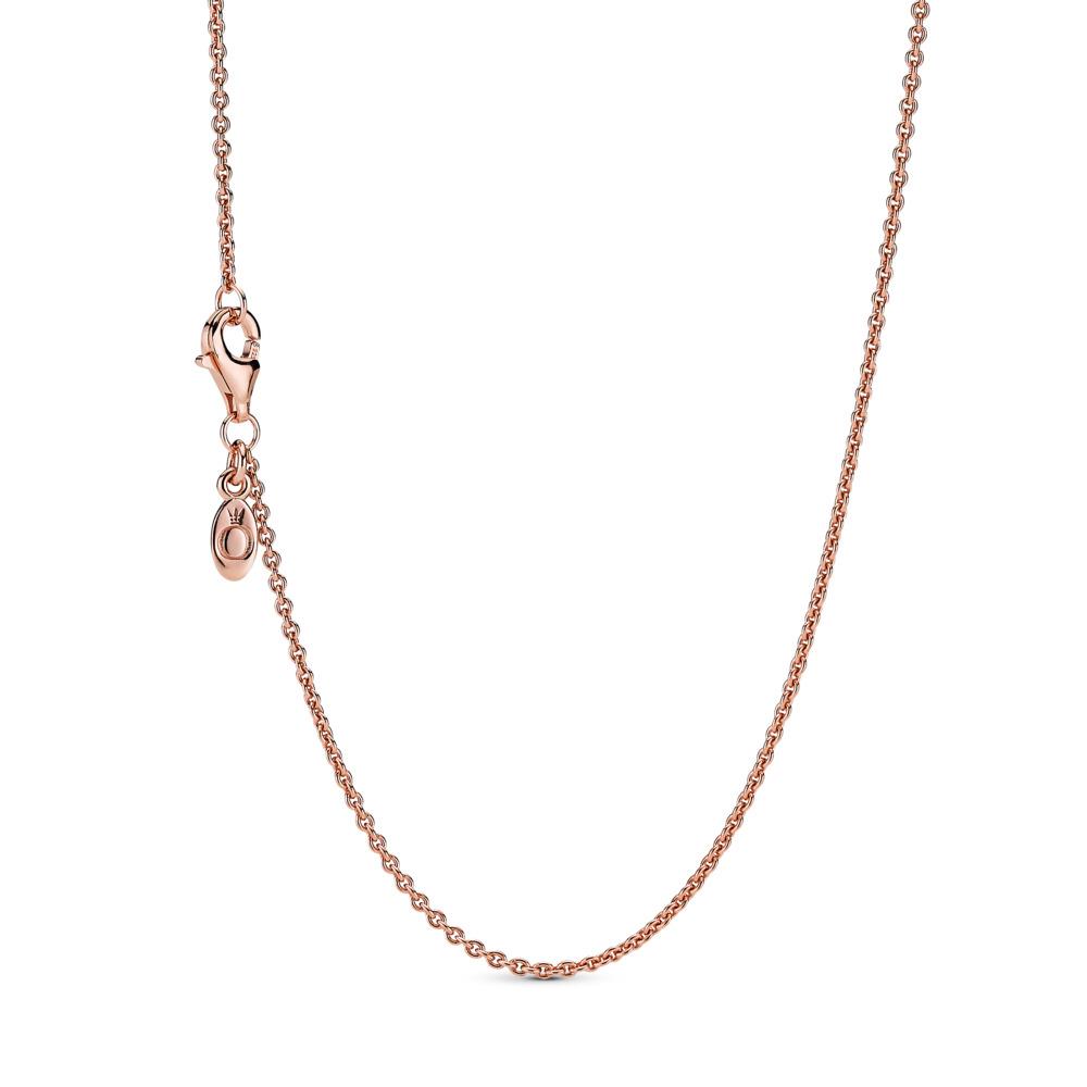 Collier chaîne forçat classique, PANDORA ROSE, Aucun autre matériel, Aucune couleur, Aucune pierre - PANDORA - #580413